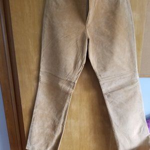 Tall Brown Suede Pants